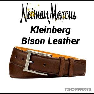 Kleinberg Bison Leather Belt